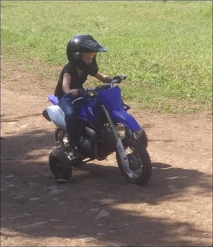 5 year old on mini cycle