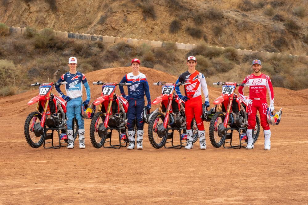 2021 Team Honda Motocross team