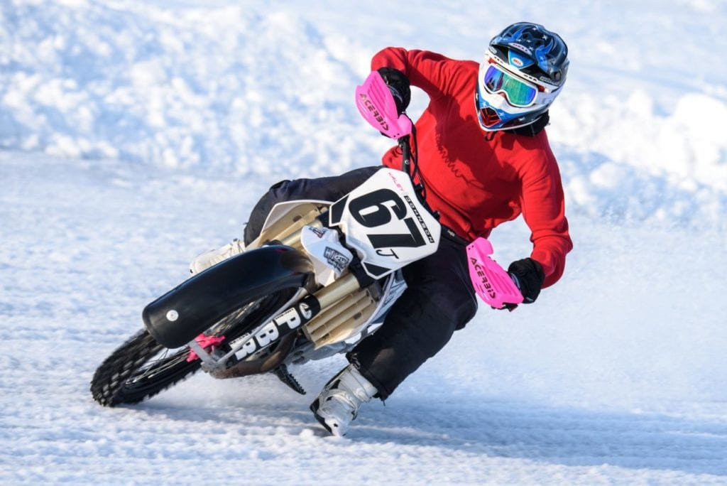 Ice Racing Motorcycle Photo by Matt Milanowski