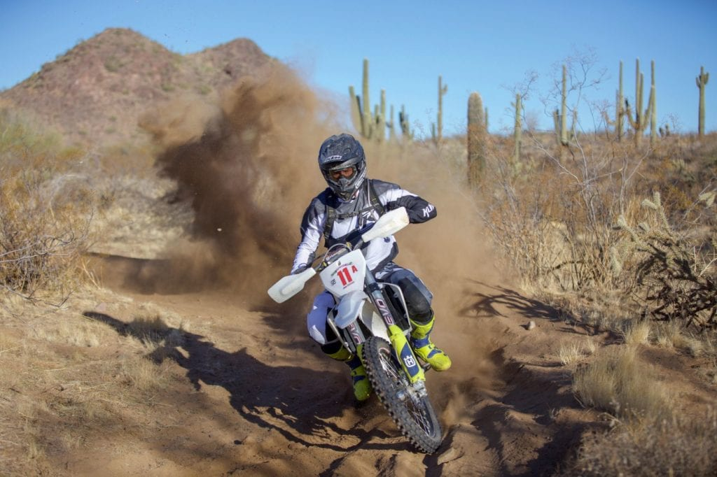Motorcycle Racing in Desert