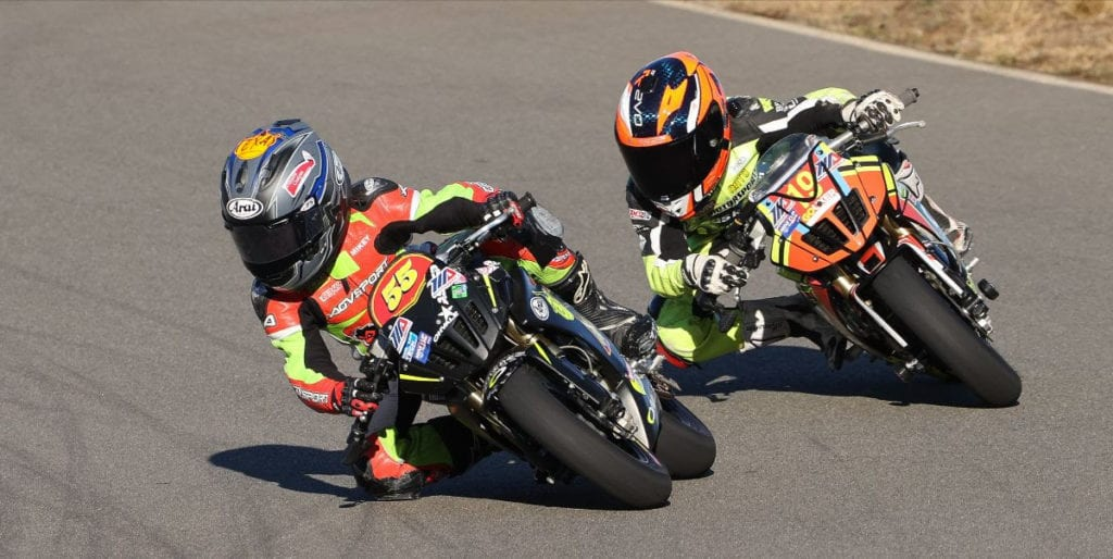 Motul Mini Racers in action on the track
