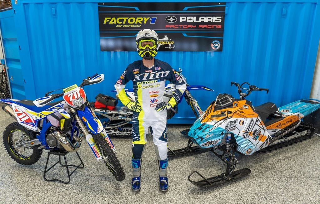 FactoryONE Sherco Motorcycles welcome World Champion Snowmobile Hillclimber Keith Curtis to the Team