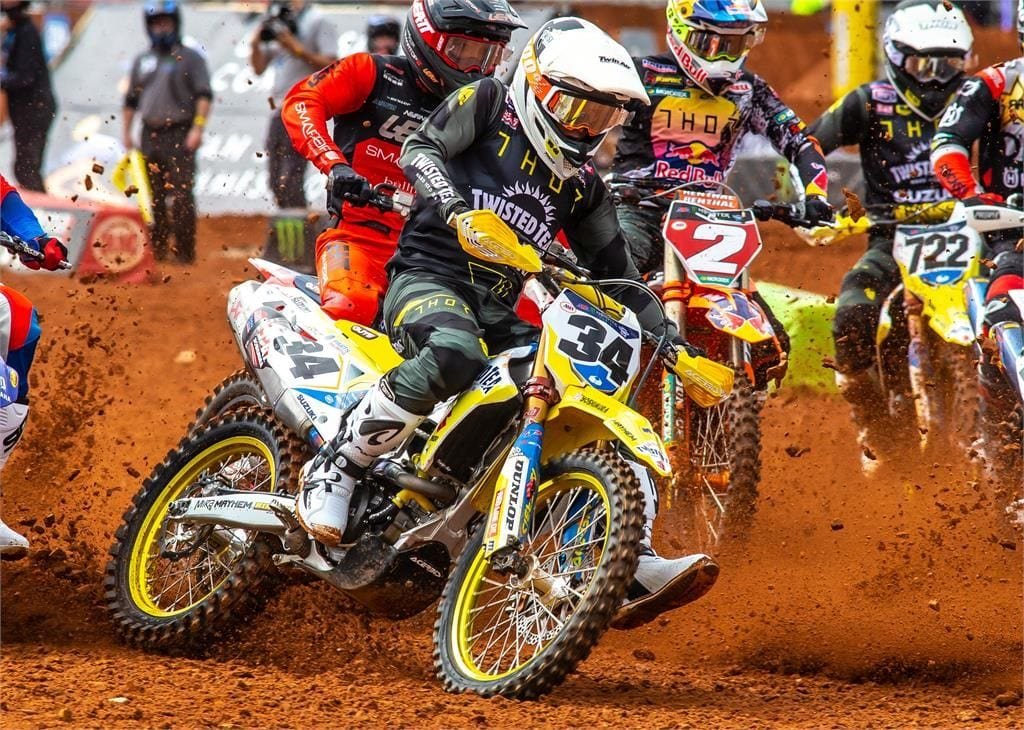 Suzuki riders returned to Supercross racing at Round 13 of the 2021 Monster Energy AMA/ FIM World Supercross Championship in Atlanta, Georgia at the weekend.