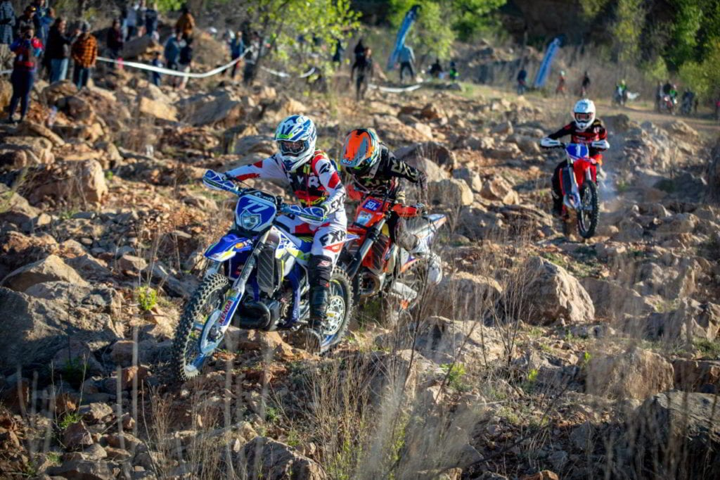 FactoryONE Sherco Motorcycles competing in the RevLimiter Extreme Hard Enduro race