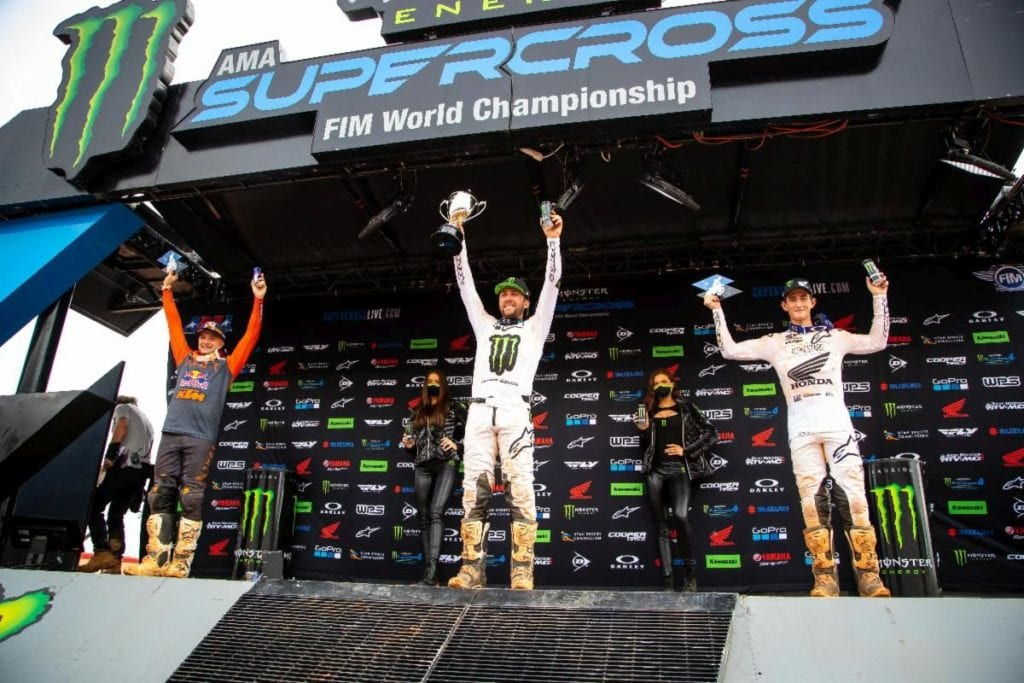 Cooper Webb, Eli Tomac, and Chase Sexton