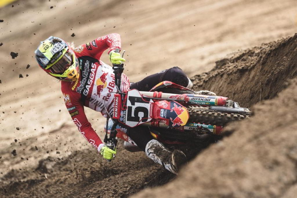 """Justin Barcia: """"The track was really gnarly today but my bike was working awesome"""