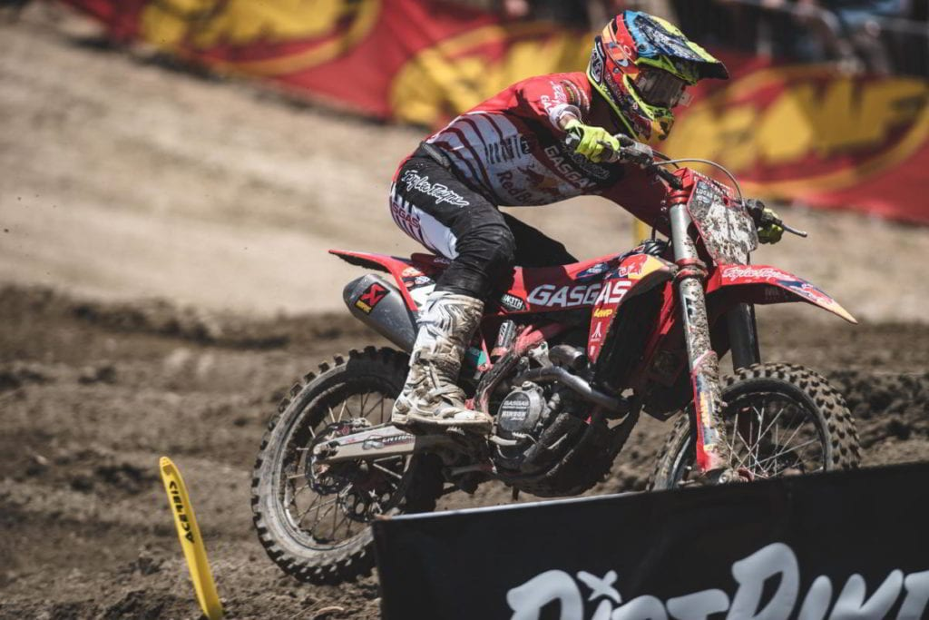 """Pierce Brown: """"I was stoked for the first moto, I got a decent start and collided with another rider"""