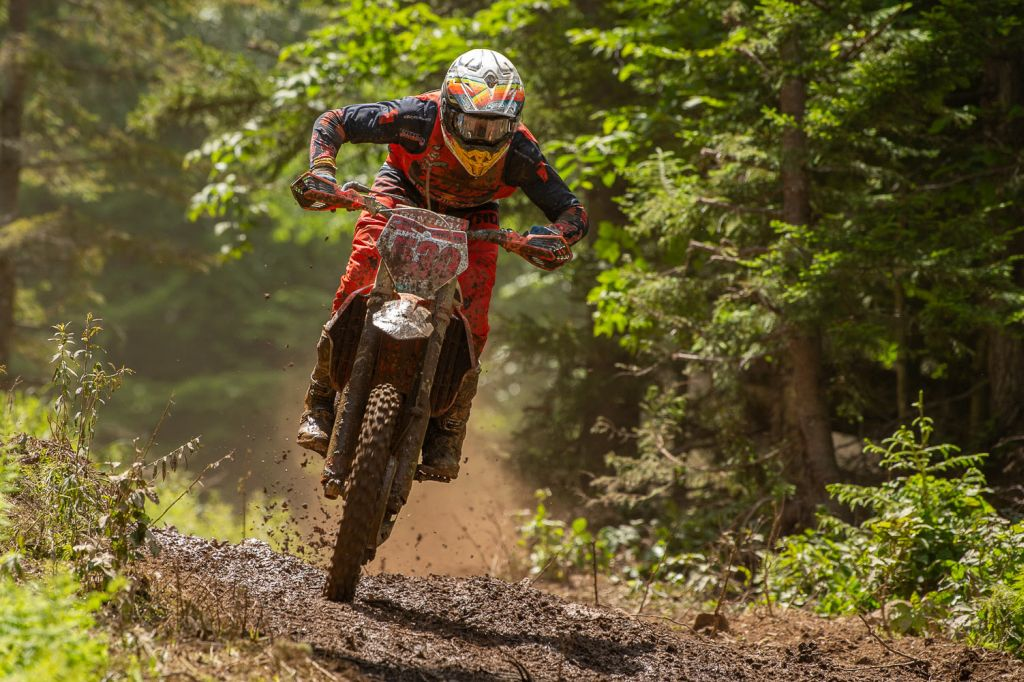Ben Kelley (FMF/KTM Factory Racing) conquered the mountain, and earned the overall win on Sunday afternoon. Photo: Ken Hill
