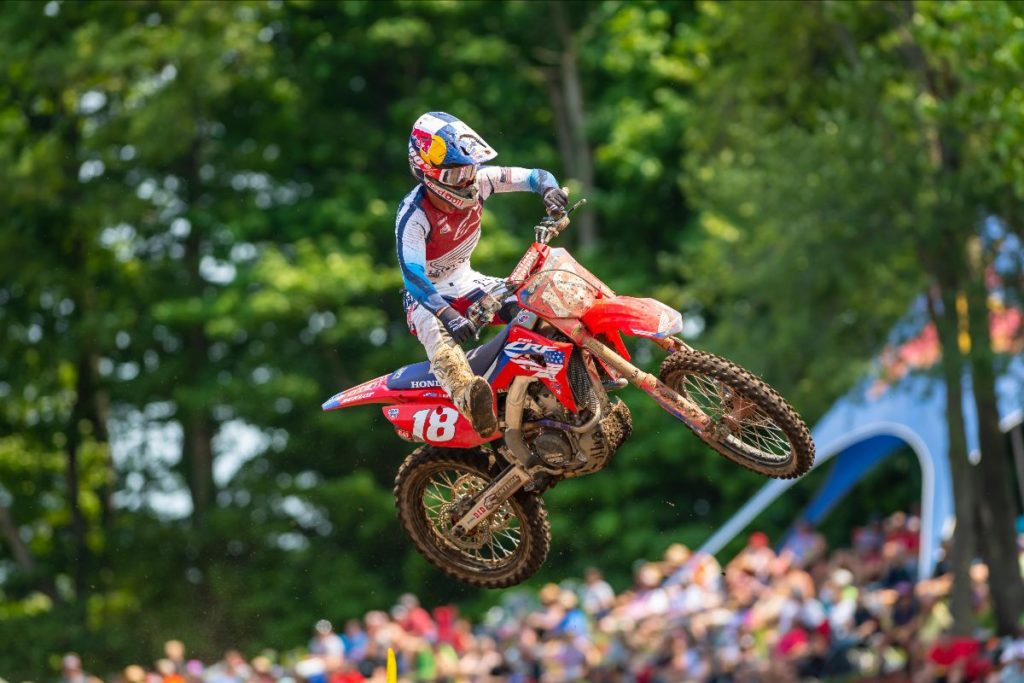 A first moto victory and hard charge by Jett Lawrence