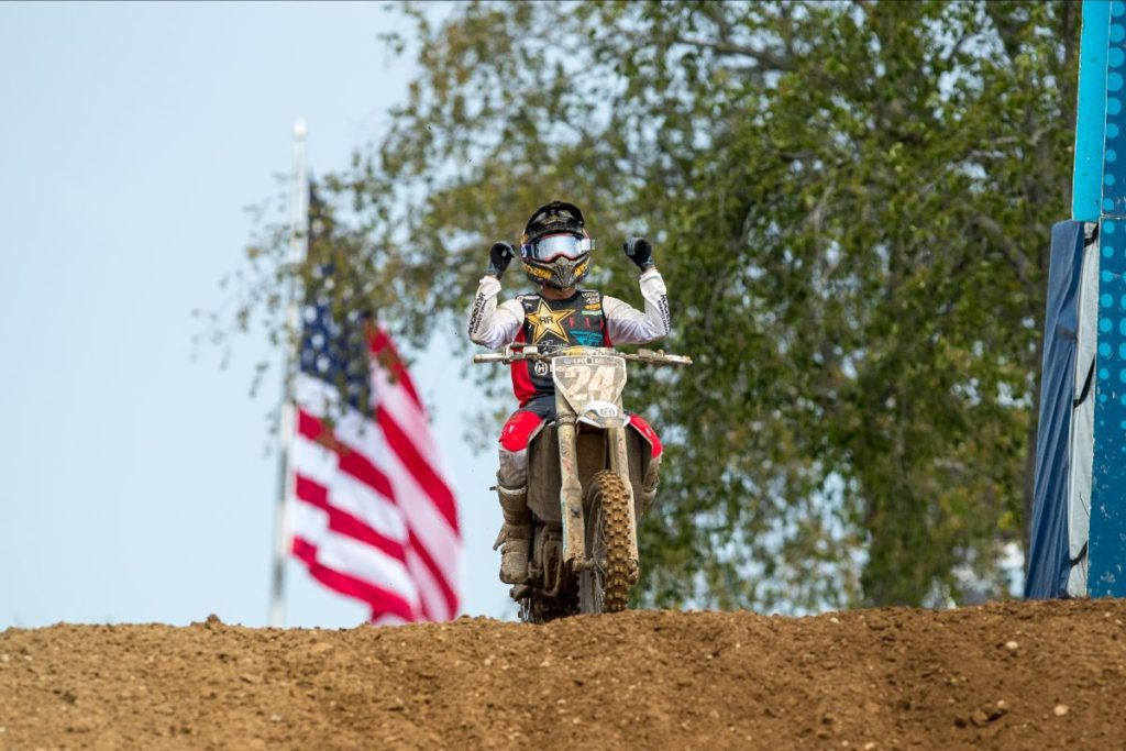 For the second consecutive year, RJ Hampshire emerged with a RedBud National win