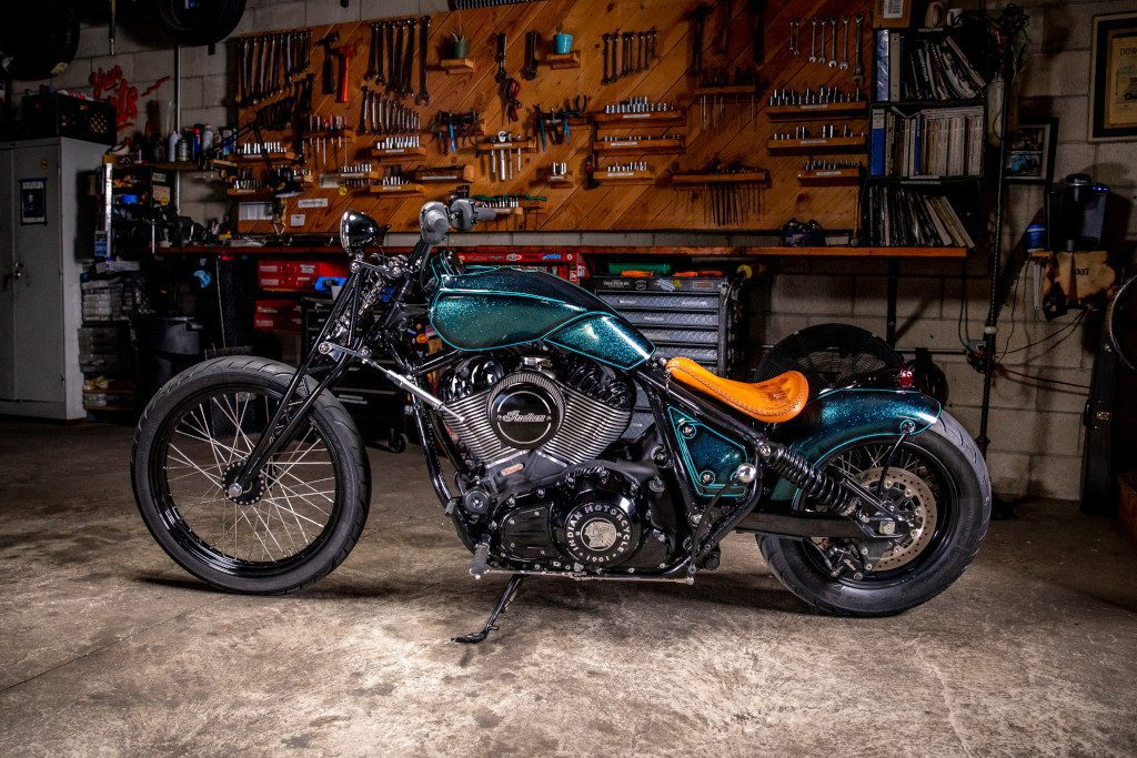 The bikewill make its public debut as one of 30 custom motorcycles on display at Michael Lichter's custom motorcycle gallery at the Buffalo Chip during the Sturgis Motorcycle Rally