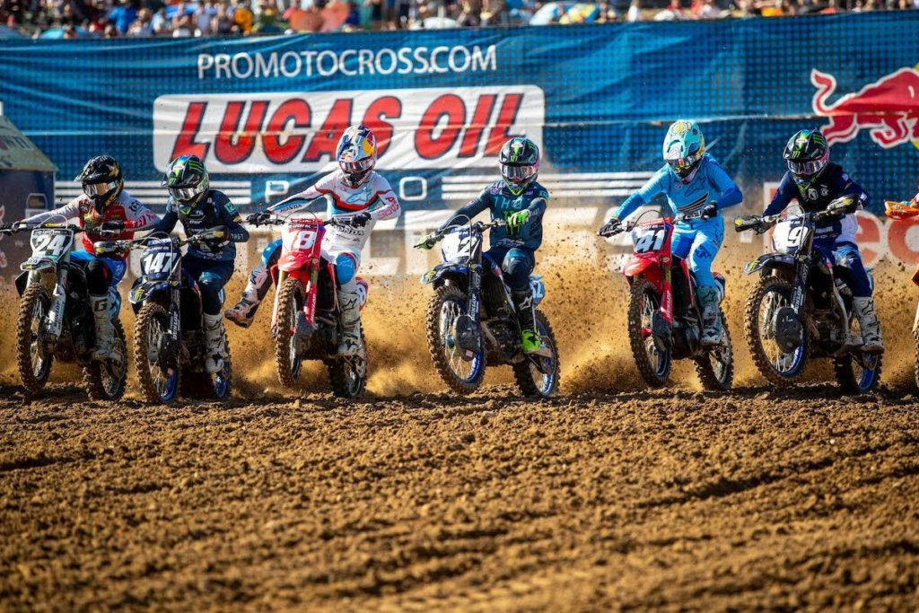The 250 Class title came down to Jett Lawrence (18) and Justin Cooper (32). Photo: Align Media
