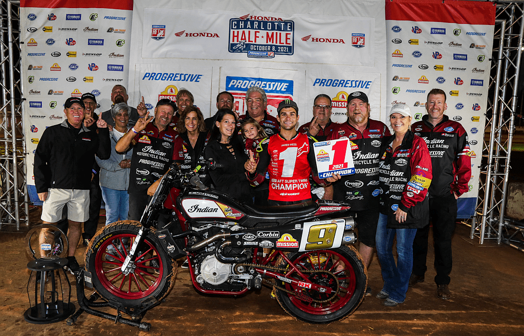 Indian Motorcycle Racing, presented by Progressive Motorcycle Insurance, earned its fifth consecutive American Flat Track (AFT) Manufacturer's Championship