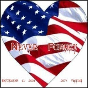 Twin Towers Never Forget 9-1-2001